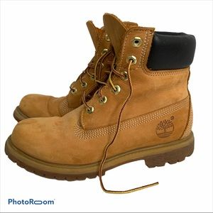 """Timberland Heritage 6"""" wheat leather boots SZ 7M"""